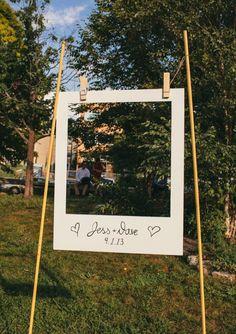 DIY wedding photo booth. 9 wedding hacks we learned from Pinterest #wedding #DIY #hacks