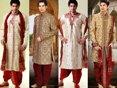 Indian Wedding Dress - designer Indian Wedding Dress, Wedding outfits for men, Sherwanis, Kurta Pajama & Jodpuri Suits for Men, Traditional Indian Wedding Dresses for Men.