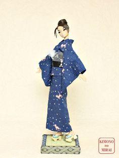 Blue Cats YUKATA kimono Barbie,Poppy Parker,FR NIPPON,doll,wafuku KIMONOnoMIRAI #KIMONOnoMIRAI
