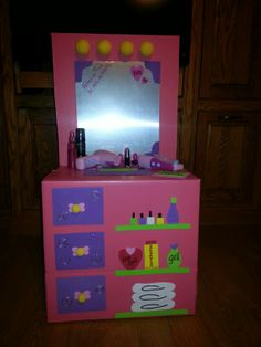 vanity valentine box for my little girl - Valentine Boxes For Girls