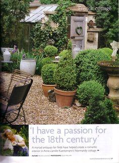 Color Outside the Lines: New Venture . Boxwood Garden, Garden Pots, Boxwood Planters, Garden Ideas, Formal Gardens, Outdoor Gardens, Fresco, Large Terracotta Pots, Country House Interior