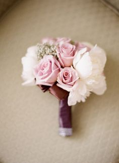 Roses, Peonies, and Baby's breath, seen on StyleMePretty