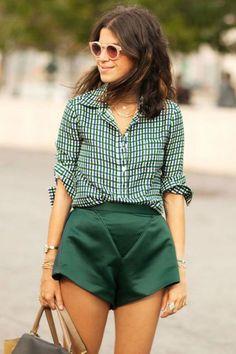 Os mais lindos looks com shorts para todas as estações do ano