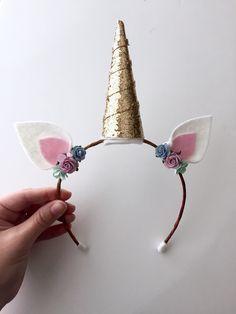 Einhorn Ohren Haarreif... Einhorn-Stirnband... Dress up Zubehör