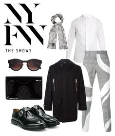 """""""Untitled #133"""" by ranaalbadr ❤ liked on Polyvore featuring Alexander McQueen, men's fashion and menswear"""