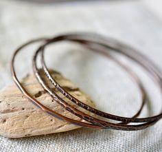 Copper bangle bracelets  stacking copper bangles  by alery on Etsy