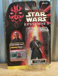 Star Wars Episode 1 Darth Maul Double Bladed Lightsaber Commtech Chip 1998 | Toys & Hobbies, Action Figures, TV, Movie & Video Games | eBay!