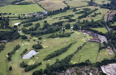 Ufford Park Golf Course in Suffolk - uk aerial image   by John D F