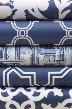 navy wallpaper navy rolls from thibauts graphic resource collection picture ideas hd Blue And White Wallpaper, Navy Wallpaper, Trellis Wallpaper, Graphic Wallpaper, Blue Wallpapers, Geometric Wallpaper, Wallpaper Ideas, Art Deco Colors, Paint Colors