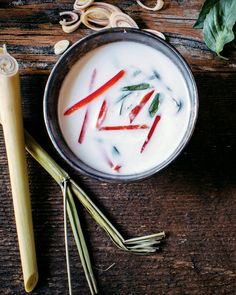 Vegan Coconut, Lemongrass & Lime Soup - This Coconut, Lemongrass and Lime Soup from Brendan Brazier's Thrive Energy Cookbook is so easy and delicious!