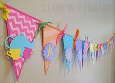 Wonderland Collection: Large Pennant Banner, Custom. Alice in Wonderland Banner. Tea Party Banner. Mad Hatter.