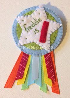 1st birthday badge - visit me at www.facebook.com/xFeltHappyx