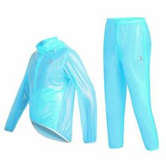 WOLFBIKE Waterproof Windproof Cycling Safety Wind Coat Raincoat and Pant Set Bike Bicycle Jacket Jersey with Hood Breathable Superlight, Fluorescent Blue, Size: L - http://ridingjerseys.com/wolfbike-waterproof-windproof-cycling-safety-wind-coat-raincoat-and-pant-set-bike-bicycle-jacket-jersey-with-hood-breathable-superlight-fluorescent-blue-size-l/