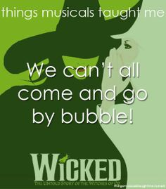 what musicals taught me | Things musicals taught me - Bubble!