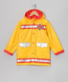 Take a look at this Yellow Firefighter Raincoat - Infant, Toddler & Boys by Wippette on #zulily today!