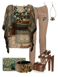 """""""HIPPIE CHIC"""" by outfits-de-moda2 ❤ liked on Polyvore featuring CIMARRON, Brian Atwood, Michael Kors and Alexis Bittar"""