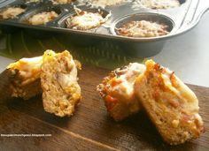 Muffinki z mięsa mielonego z dwoma farszami - na ciepło lub zimno