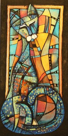 Tanya McCabe. via ❤Rosemary Brown❤. Picasso Cat?