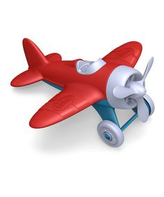 This is made from recycled materials! So cool! Red Recycled Airplane on zulily today!