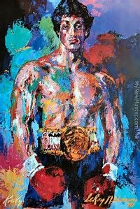 Leroy Neiman Rocky Balboa painting is shipped worldwide,including stretched canvas and framed art.This Leroy Neiman Rocky Balboa painting is available at custom size. Rocky Balboa Movie, Rocky Balboa Poster, Rocky Film, Rocky Poster, Pop Art, Raphael Paintings, Stallone Rocky, Graffiti Kunst, Sports Painting