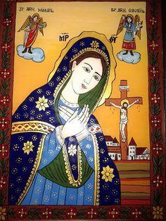 Lady Madonna, Art Icon, Orthodox Icons, My Glass, Religious Art, Ikon, Penguins, Folk Art, Images