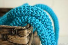 Как связать крючком круглый прочный шнур
