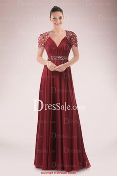 Breath-taking Queen Anne Neckline Empire Mother of the Bride Dress with Sequined Illusion Back
