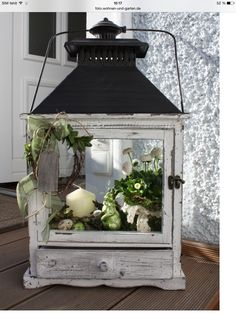 Frühling in der Laterne…. – Wohnen und Garten Foto Spring in the lantern …. – Living and Garden Photo Lanterns Decor, Candle Lanterns, Pinterest Decorating, Easter Festival, Decoration Entree, Diy Home Decor, Room Decor, Diy Crafts To Do, Home Garden Design