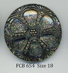 round black and gold czech glass button with by buttonsandshanks, $5.95