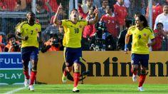 Eliminatorias Copa Mundial de la FIFA Brasil 2014 | Chile 1 vs Colombia 3 | 11-09-2012 | James Rodríguez celebra el primer gol de Colombia.