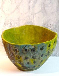 peacock bowl~Brenda Holzke stoneware