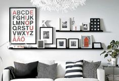 8 Vibrant Cool Tricks: Floating Shelves Above Couch Light Fixtures floating shelves with pictures colour.Wooden Floating Shelf Under Tv floating shelves living room bookshelves.Floating Shelf Bookcase Home Decor. Ribba Picture Ledge, Picture Rail, Picture Frames, Picture Photo, Black Picture, Picture Ledge Bedroom, Picture Ideas, Mosslanda Picture Ledge, Picture Wall Living Room