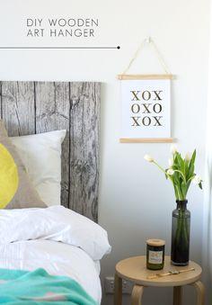 DIY wood art hanger
