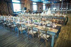 Blue and gold rustic wedding reception decorations   fabmood.com