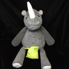"Scentsy Ruby The Rhino Jumpin Jelly Bean Scent Pak Plush 18""  #Scentsy"