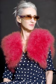 Linda Rodin - love the up-do and fiercely cool vest