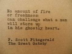 GREAT GATSBY F. Scott FITZGERALD Quote Typed on by PoetryBoutique, $9.00