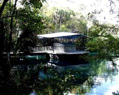 Floating observation deck from Homosassa Wildlife Park