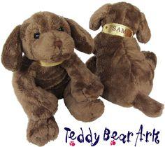 Soft toy chocolate labrador