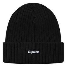 6282edd75a8 2015 FW SUPREME Ribbed Beanie Black Supreme Beanie Hat Cap NWT