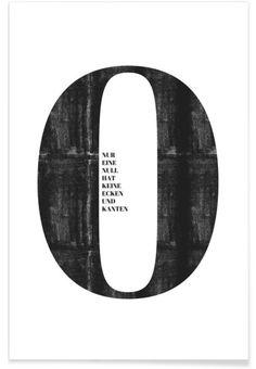 Null als Premium Poster von typealive | JUNIQE