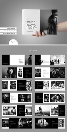 Portfolio / Photobook by tujuhbenua on @creativemarket #portfolio #template #design