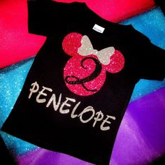 Girls Minnie Mouse Birthday Shirt / Minnie Mouse Shirt / Matching Minnie Shirt / Matching Disney Shirt / Family Shirts / Birthday Shirt - Birthday Shirts - Ideas of Birthday Shirts - Twin First Birthday, 2nd Birthday Parties, Girl Birthday, Birthday Ideas, Minnie Birthday, Birthday Stuff, Themed Parties, Mickey Party, Minnie Mouse Party