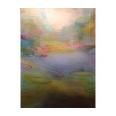 Smultronstalle.  30 x 40 inches, oil on canvas abstract painting by Sharon Kingston