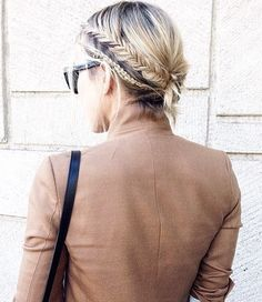 two braids updo for shorter hair