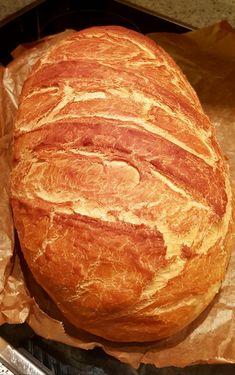 Ropogós kenyér görög joghurttal | Álom.Íz.Világ. Yogurt, Ciabatta, How To Make Bread, No Bake Cake, Bread Recipes, Baked Goods, Sandwiches, Food And Drink, Baking