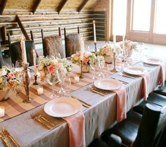 Country wedding peach napkins