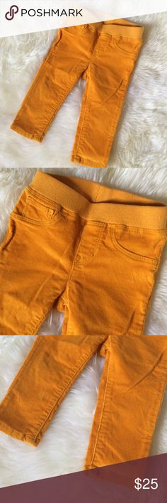 🎉HP🎉Gap mustard yellow corduroy pants 12-18 mo Adorable and comfy gap corduroy pants in mustard yellow color! Has a soft waist band as shown! Size 12-18 months 🎉HOST PICK- everything kids party- 9/18/16🎉 GAP Bottoms Casual