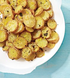 Potato Rounds with Fresh Lemon