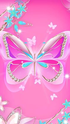 By Artist Unknown. Bling Wallpaper, Queens Wallpaper, Heart Wallpaper, Wallpaper Iphone Cute, Wallpaper Backgrounds, Purple Butterfly Wallpaper, Rose Flower Wallpaper, Butterfly Background, Butterfly Art